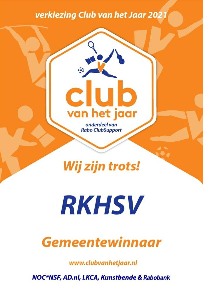 RKHSV winnaar Club van het Jaar Gemeente Maastricht