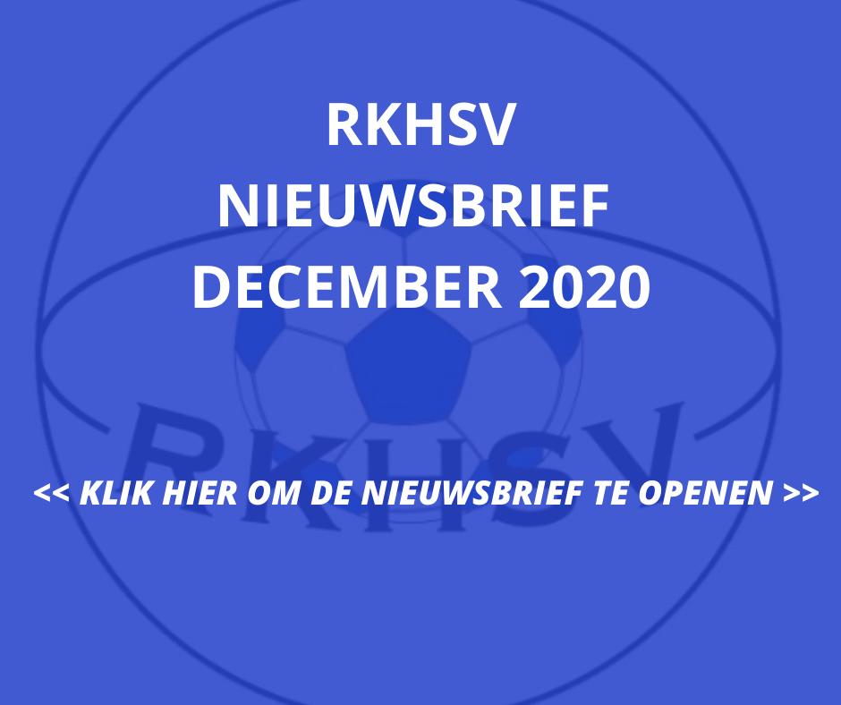 RKHSV Nieuwsbrief december 2020